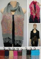 Pashmina with Fringe [Colorful Paisley]